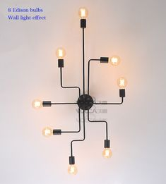 Retro industrial loft Nordic pipe Wrought iron ceiling light lustre lamps for home decor restaurant dinning cafe bar room #retrohomedecor