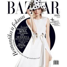 Harper's Bazaar Serbia April 2016 Cover ❤ liked on Polyvore featuring magazine, text, phrase, quotes and saying