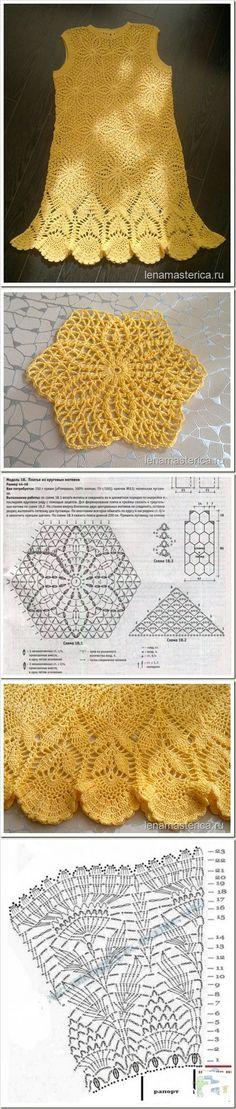 Super Ideas for crochet lace hat pattern stitches Crochet Diagram, Crochet Chart, Crochet Motif, Crochet Lace, Crochet Stitches, Crochet Patterns, Baby Patterns, Dress Patterns, Crochet Skirts
