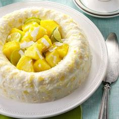 Pina Colada Molded Salad...An original recipe, my molded gelatin gets a tropical twist from coconut, pineapple, and macadamia nuts. It's a wonderful anytime treat