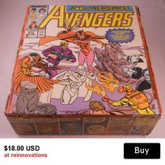 Marvel Avengers Handmade Upcycled Cigar Box