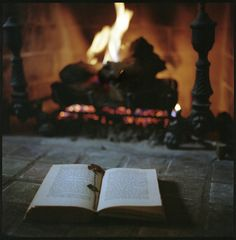 A book and a fire <3