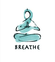 Breath meditation, a bicep curl for your mind. Dan Harris (yoga art watercolor print BREATHE by LindsaySatchell on Etsy)
