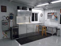 Five Piece Diamond Plate Garage Organization