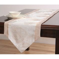 Xia Home Fashions Daisy Splendor Table Runner, 15 By 54 Inch, White By Xia  Home Fashions. $24.71. 100 Percent Easy Care Polyviscose. Custom Cutworku2026