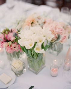 lovely wedding centerpiece