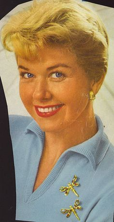 doris day--how to wear scatter pins
