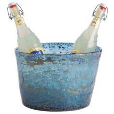 Arteriors Thurston Sand-Infused Glass Bowl - Blue
