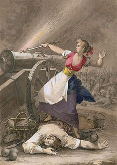 19th century print of Agustina de Aragón, a real life guerillera who fought in the Napoleonic wars and was one of the inspirations for Teresa.