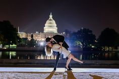 A beautiful engagement session at Lincoln memorial and Capitol Building at  night  This was an incredibly fun DC engagement photo session at sunset and night.  We really enjoyed creating beautiful memories and capturing gorgeous fall  colors.  Elegant and timeless engagement photography photographed by Justy  Photography (Eylul Gungor) // Wedding and Portrait Photography  Engagement photos at night by Capitol Building Washington DC  Washington DC Monuments - Fall Engagement Photos...