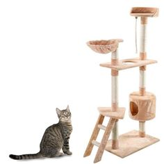 TOMTOP 60' Cat Tree Tower Condo Scratcher Furniture Kitten Pet House Hammock -- For more information, visit now : Cat Tree