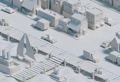 Clay render for the low poly port  #dribbble #design #illustration #blender #blender3D #model #modeling #render #polygon #cycles #lowpoly #lowpolygon #lowpolyart #render #port #city #designarf #designcenter #simplycooldesign #compositing #graphicdesigncentral #isometric