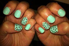 minty leopard sweeeeet…lovin' this colour combo  by DaaaangGirl