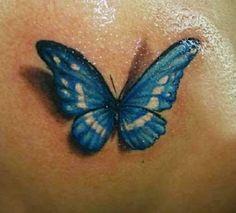 3D butterfly tattoo 29 - 65 3D butterfly tattoos <3