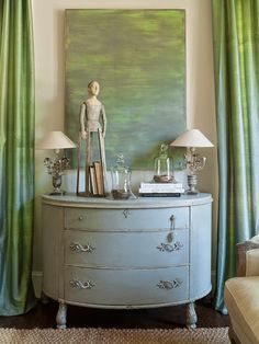 Chalk Paint® decorative paint on furniture | Tour of home of Blue Egg Brown Nest on the House of Turquoise Blog
