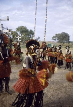 Africa   Pulo Yana masqueraders during the Dama ceremony, Sanga, Mali. ca. 1959   ©Eliot Elisofon.