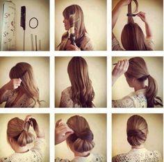 Hair Tutorial | A different way to do a bun.