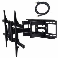"""Amazon.com: VideoSecu ML531BE TV Wall Mount for most 32""""-55"""" LED LCD Plasma Flat Screen Monitor up to 88 lb VESA 400x400 with Full Motion Swivel Articulating 20 in Extension Arm, HDMI Cable & Bubble Level WP5: Home Audio & Theater"""