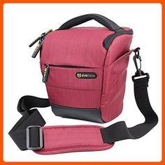 Camera Case - Evecase Digital SLR / DSLR Professional Camera Shoulder Bag For Compact system, Hybrid, SLR / DSLR and High Zoom Camera - Red - Photo stuff (*Amazon Partner-Link)
