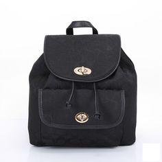 Coach Logo Monogram HW302 Backpack In Black