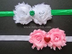 Valentines day and st patricks day headband set: baby headbands, newborn headband, infant headband, toddler headband, childrens headband