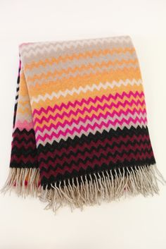 Humbert Pink Throw in Missoni Home. Available at shopstelladallas.com.