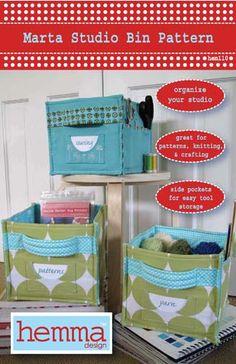 Marta Studio bin sewing pattern