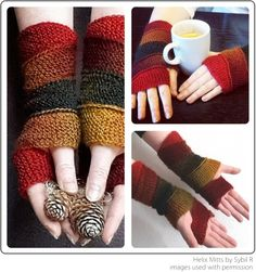Helix Mitts by Sybil R - great for small amounts of yarn... 2-3 pairs per bundle of MINI SKEINS  11-2014