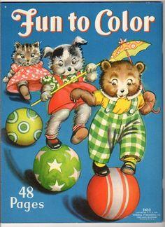 1939 Fun To Color Coloring Book Unused, Merrill, #3452