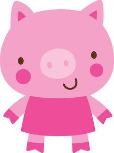 Adorable Pig via Cricut