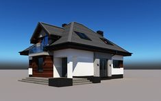 projekt Alicja N 2G+ Model House Plan, House Plans, Home Building Design, Building A House, Model Homes, Gazebo, Sweet Home, Outdoor Structures, Outdoor Decor