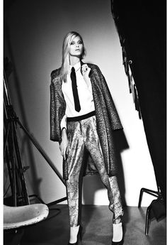 By Malene Birger Autumn/Winter 2013 Androgynous Look, Fall Winter, Autumn, Malene Birger, Black And White Pictures, Kimono Top, That Look, Punk, Studio