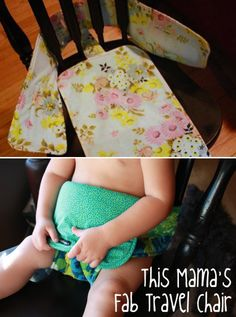 Travel chair crafts, tips and diy sewing projects for kids, Sewing Projects For Kids, Sewing For Kids, Free Sewing, Diy Projects, Sewing Hacks, Sewing Crafts, Diy Crafts, Couture, Craft Videos