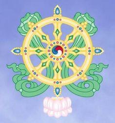"""Um dos oito símbolos auspiciosos do BUDISMO: a """"RODA DO DARMA""""!!!  :-)"""