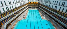 This is the Piscine Molitor, the pool I was named after for its beauty and cleanliness. Swimming Pools, Places To Go, Fair Grounds, Paris France, Water, Fun, Travel, Beauty, Art Deco