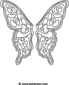 Fairy coloring sheet, butterfly fairy wings printable