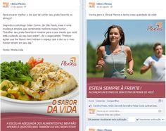 Facebook da Clínica Plenna em Itabuna-BA. Criação da redação e dos textos das postagens.