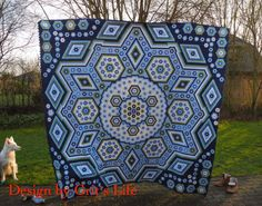 The Vignette Hexagon Quilt: 17220 hexagons