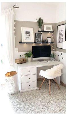 Room Design Bedroom, Room Ideas Bedroom, Small Room Bedroom, Home Decor Bedroom, Small Rooms, Small Spaces, Bedroom Modern, Spare Room, Diy Bedroom