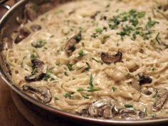 Fettuccine with White Truffle Butter and Mushrooms recipe from Ina Garten via Food Network
