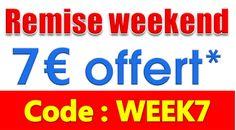 Tout le week-end, profitez de 7€ de remise pour toute commande minimum de 49€ ttc.  Utlisez le code: WEEK7