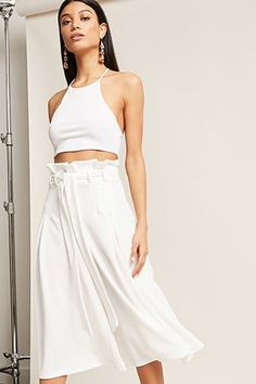 Paperbag-Waist Culottes