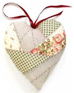 Naaipatroon voor een creazy patchwork hart