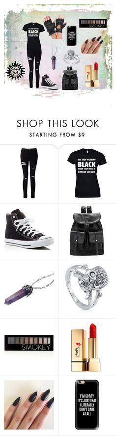 """""""Don't touch a demon"""" by cybersix on Polyvore featuring Miss Selfridge, Converse, BERRICLE, Forever 21, Yves Saint Laurent and Casetify"""