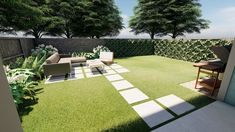 Inexpensive Backyard Makeover Under $5,000 — Yardzen | Online Landscape Design Landscape Elements, Lawn And Landscape, Backyard Landscaping, Online Landscape Design, Organic Lawn Care, Zen, Masonry Work, Backyard Sheds, Courtyards