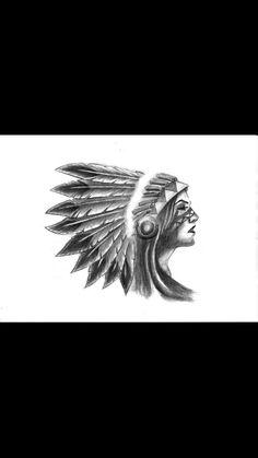 My next tattoo. Beautiful native american warrior princess♥♥♥
