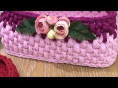 Penye sepet yeni model 6 ( new model basket ) combed cotton rope Crochet Bowl, Easy Crochet, Holiday Crochet Patterns, Crochet Backpack, Knit Basket, Rope Basket, Crochet Doll Pattern, Crochet Videos, Cotton Rope