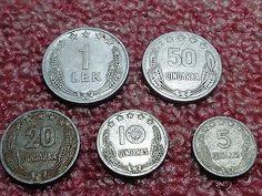 Albania, Set of 1964 Communist Albania coins,1 Leke,50,20,10,5 Qindarka all set…