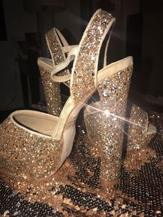 3422e261397 glitter heels size 9  fashion  clothing  shoes  accessories  womensshoes   heels
