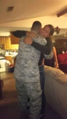 Airman coming home for the holidays and surprising immediate family members!
